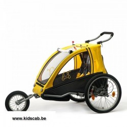 Vantly comfort bike trailer with suspension