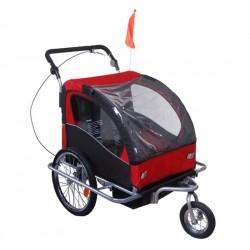 Swivel buggy bike trailer