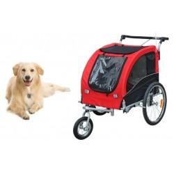 Remorque vélo poussette chien avec suspensions