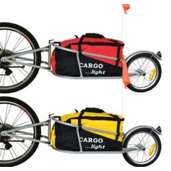 One wheel cargo trailer bagagefietskar