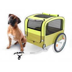 Vantly yellow dog bike trailer