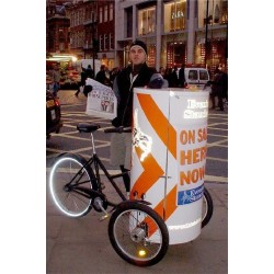 Nihola Posterbike Werbung transportrad