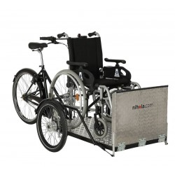 Nihola Flex cargo trike for wheelchair