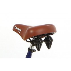Cangoo Fahrradsattel braun