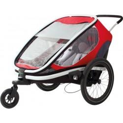Remorque vélo Hamax outback 2 Gris/rouge/noir
