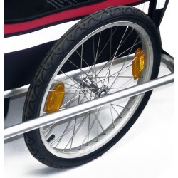 Side wheel 20 inch for bicycle trailer