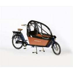 Bakfiets.nl Cargobike long Regenverdeck extra hoch