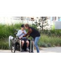 Nihola Rehab bakfiets voor gehandicapt elektrisch