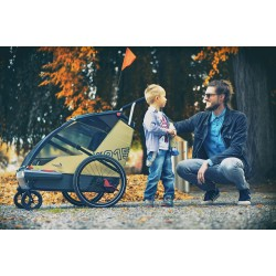 Leggero Vento R family Surf child bike trailer