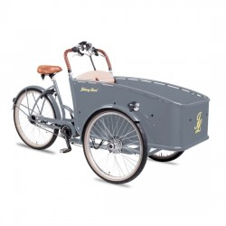 Johnny Loco E-Bike Cargo Earl grey kindertransportrad