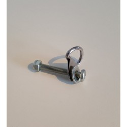 Bolt with D-ring for safety strap hitch arm
