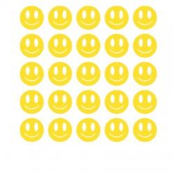 Smiley réfléchissant des autocollants de vélo cargo