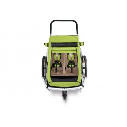 Croozer kid for Sonnenschutz Meadow green