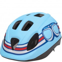 Bobike Pilot S mat bleu casque vélo enfant
