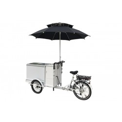 KidsCab cargo bike ice cream cart with freezer