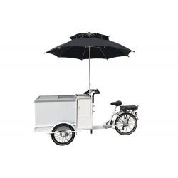 KidsCab cargo bike ice cream cart with freezer