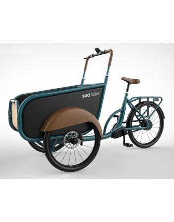 Soci.bike bakfiets Azuurblauw