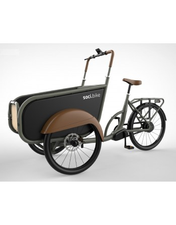 Soci.bike bakfiets cement...